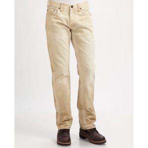 True Religion Bobby Straight Leg Light Khaki Jeans